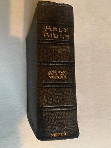 1901 ASV American Standard Version Bible Vintage Nelson Gold Edge