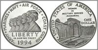 1994 WOMEN IN MILITARY Proof Commemorative 90% Silver Dollar Coin