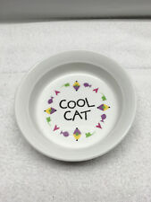 Cool Cat Ceramic Cat Food Water Dish 5 inch