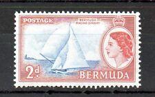 Bermuda 1953 2p Red Racing Dinghy MNH stamp