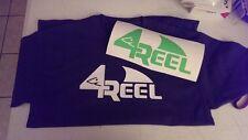 4 reel t shirt and Car decal.    Fishing, shark, Water sports sm-xl