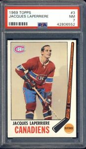 1969 Topps Hockey Jacques Laperriere #3 PSA 7