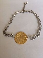 Edward III Quarter Noble Gilt WC15 Gold  English Pewter on a Anklet / Bracelet
