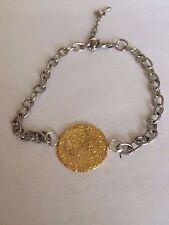 Edward III Quarter Noble Gilt WC15 Gold  English Pewter on a Anklet / Bracelet