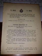 REGIO DECRETO 1908 INDENNITà MISSIONE ISPET VIGILANZA TESORO RISANAMENTO NAPOLI