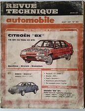 RTA 8/1987; Citroën BX 19 GT 19 TRS 19 GTi Berline Break Evasion
