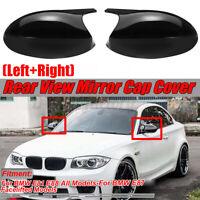 Gloss Black Side View Mirror Cover For BMW 1 Series E81 E82 E88 & E87