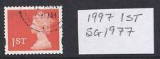 GB QE II 1997 sg1977 Machin 1st Bright Orange-Red 2 Phos BandsSingle used Stamp
