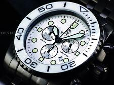 NEW Deep Blue Sea Lt Ed Swiss Chrono PVD SS Ceramic Bezel Sapphire Crystal Watch