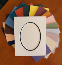 """Picture Framing Oval Mat 5x7"""" for 8x10"""" Frame 1 or 2 Layers Color Choice"""