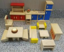 Plan Toys Dollhouse Wooden Living, Dinning, Kitchen, Acc. Room Furniture Lot