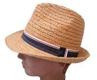 Chapeau de Paille Trilby souple naturstrohhut déformable CHAPEAU protège-soleil