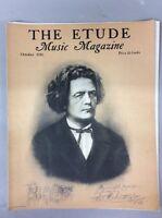 Vintage The Etude Music Magazine October 1936 Dr Joseph Hoffman