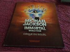MICHAEL JACKSON - THE IMMORTAL WORLD TOUR - CIRQUE DU SOLEIL - SOUVENIR PROGRAM