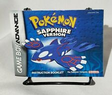 Pokemon Sapphire Instructions Manual Only Nintendo Gameboy Advance GBA