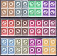 12  MNH  WWII  3rd REICH NAZI OFFICIALS BLOCKS!