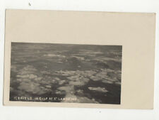Ice Fields In Gulf Of St Lawrence Canada Vintage Rppc Postcard Us021