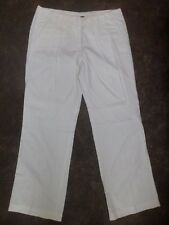 "Ladies Tommy Hilfiger White Linen Trousers USA Size 8-UK Size 12-30""Leg New"