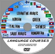 7 LANGUAGE COURSES PCDVD SIMPLE LEARN SYSTEM AUDIO & TEXT KOREAN GREEK ITALIAN 3