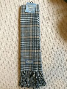 Pendleton WHISPER WOOL Scarf Muffler New with Tags Heather Grey Italy