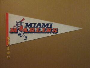 FSL Miami Marlins Vintage Defunct Circa 1982 Team Logo Baseball Pennant
