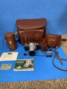 Exakta Varex IIa, Jhagee Dresden, 35mm Camera Manual Extra Lenses Case