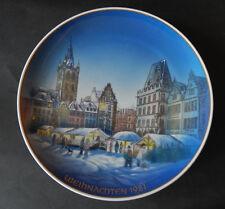 """Rosenthal 8. Weihnachtsteller """" Trier """" Weihnachten 1981"""