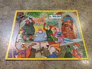 Vintage ROBIN HOOD Inlaid Jaymar Tray Puzzle Walt Disney Prod 2376