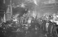 WW2 Picture Photo 1944 USS Intrepid CV-11 crewmembers after hit by Kamikaze 2954