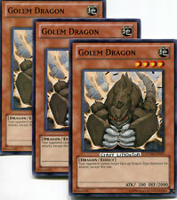 3 X YU-GI-OH GOLEM DRAGON PROMO COMMON MINT TU06-EN019
