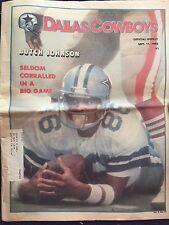 """ NFL Dallas Cowboys Official Weekly Magazine September, 11, 1982; Vol. 8, No.13"