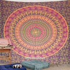 Mandala Tapestry Hippie Wall Hanging Maroon Yellow Hippie Bohemian Wall Tapestry
