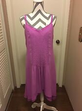 dress White And Black,Pink,Iris Orchid)High And Low ,Size 4,sexy,Sleeveless,new