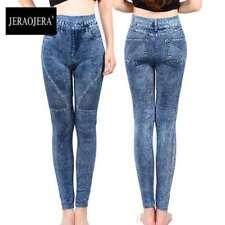 Lady Summer Yoga Pant Denim Look Jegging M-XL Ultra Soft Skinny Jean Legging