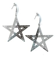 Occult Star Large Over sized Pendent Earrings Gothic Jewelry