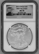 2012 American Silver Eagle, PCGS MS70, First Releases Eagle Label
