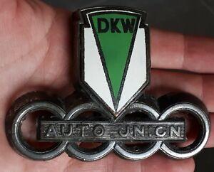 Mascotte automobile calandre AUTO UNION DKW email Audi VINTAGE 98x72mm