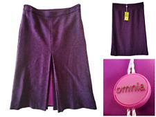 Designer Mark Whitaker for Omnia 100% Wool Purple Pink Winter Skirt UK 10 12