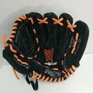 "Rawlings Savage Orange Black Suede Leather/Orange lacing Glove  S105NO 10.5 """