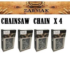 4 x Chainsaw chain full CHISEL 3/8 LP 0.050g 55 D/L fits 16 inch bar RYOBI STIHL