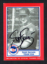 Scott Servais #3 signed autograph auto 1990 US Federation Team USA Card