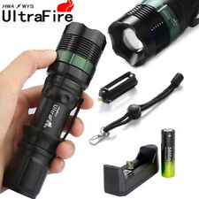 2 set Tactical Zoomable Flashlight 20000Lm T6 Led Lamp + 18650 Battery Charger