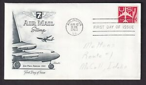 US 1960 FDC 7C AIRMAIL ARLINGTON Cachet FIRST DAY COVER with Letter