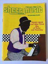 Vintage Sheet Music Magazine February 1980 Piano Man Billy Joel