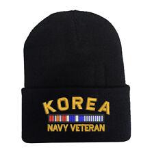 KOREA NAVY VETERAN RIBBON BEANIE WINTER HATS MILITARY