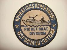 Vietnam War Patch Navy NSF DANANG 16th PICKET BOAT DIV. Operations Department