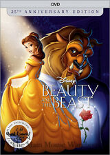 Disney Animated Masterpiece Beauty and the Beast 25th Anniversary Collection DVD