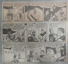 (53) Buck Rogers Dailies by Rick Yager from 11-12,1954 Size: 3 x 8 inches