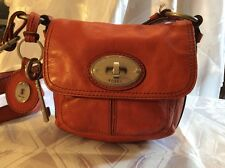 VINTAGE FOSSIL LONG LIVE 1954 LEATHER MADDOX TURNLOC CROSSBODY BAG KEY