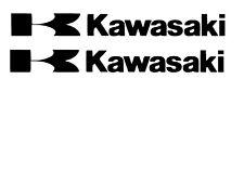 Kawasaki 2x Tank Aufkleber Motorrad Sticker Kawasaki 2 mal Aufkleber..